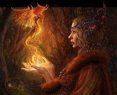Digital Artwork - Dragon Witch