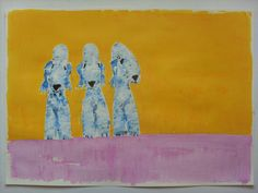 ARIZONA BEDLINGTON TERRIER DOGS  ORIGINAL PAINTING BY ANDY SHAW