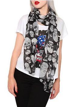 skull scarf. much cheaper than alexander mcqueen.