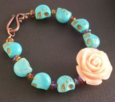 ON SALE Sugar Skull Jewelry Day of the Dead by VivaGailBeads, $17.60