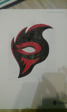 Black Red Mask