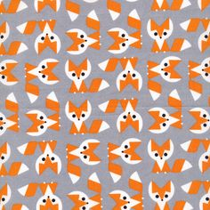Foxes - Picture Pie by Ed Emberley for Cloud9 Fabrics
