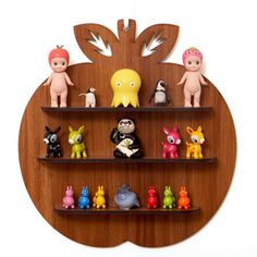 As seen in Frankie Magazine Issue 46; very cute Wooden Apple Shadow Box Shelf by candystripecloud