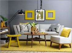Choosing a living room color is the first step when re-decorating it. I think yellow color is a great choise for living room design. Grey And Yellow Living Room, Room Design, Interior, Home Decor, House Interior, Modern Centre Table Designs, Living Room Grey, Living Decor, Gray Living Room Design
