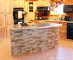 air stone kitchen island