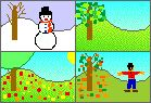 The Seasons Activities at EnchantedLearning  -Repinned by Totetude.com