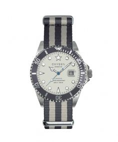Montre EXCHANGE Diver 40mm avec bracelet interchangeable par Oxygen Watch ivoire et anthracite 129.00€