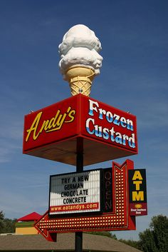 "Andy's Frozen Custard, Springfield, Missouri | HOME/LOVE!! used to take Petey there for a free ""pup cone"" the andy's staff is always great!"