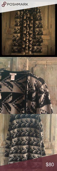 Sundance lambswool sweater coat 100% lambswool --so soft and super-stylish tribal graphic arrowhead design sundance Jackets & Coats