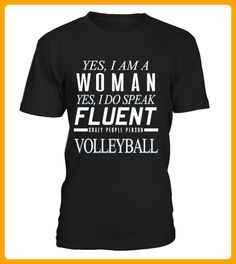 Yes i am a woman cvolleyball - Volleyball shirts (*Partner-Link)