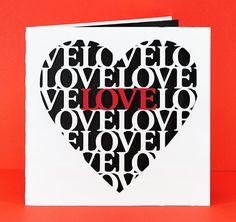 Love Heart Card by Bird