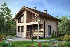 Комфортный дачный дом из бруса