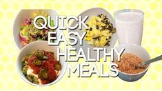 Quick & Easy Healthy Vegetarian Meals For Weight Loss & Weight Management