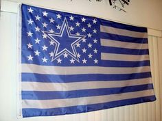 "RARE DALLAS COWBOYS ""COWBOYS NATION"" USA FLAG, BANNER 3' x 5'"