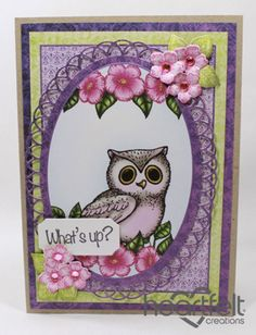 Heartfelt Creations | Owl Oval Whats Up