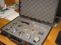Pelican laptop case Watch Holder, Watch Box, Watch Case, Watch Display, Hanger, Watches, Projects, Diy, Bricolage