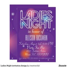 Ladies Night invitation design