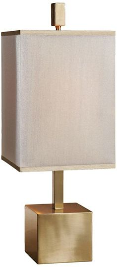Uttermost Flanaggan Brass Double Shade 27-Inch-H Table Lamp -