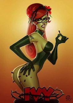 Poison Ivy by Serge Birault aka 'Papa Ninja' Comic Book Characters, Comic Character, Comic Books Art, Female Characters, Comic Art, Character Design, Dc Comics Art, Comics Girls, Comic Manga