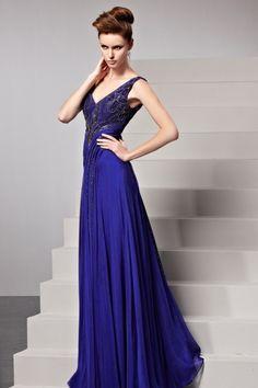 鮮やかブルーは貴女のカラー☆ どんな場所でも合う高級ロングドレス♪ - ロングドレス・パーティードレスはGN|演奏会や結婚式に大活躍!