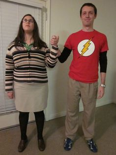 Sheldon and Amy Costume...cute couple costume!!!