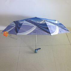 Satin printed fabric auto open and close umbrella