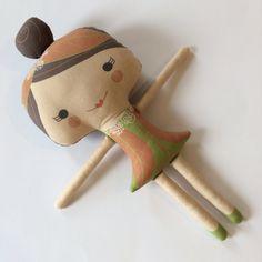 Autumn Fairy Stuffed Doll Handmade Eco-friendly Plush by miomucaro