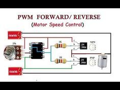 Finally a simple circuit to control the direction of a DC motor. This circuit requires 6 components. I updated the description base on suggestions from Frank. Electronics Projects, Hobby Electronics, Electronics Basics, Electronics Components, Electronics Gadgets, Simple Electronic Circuits, Electronic Circuit Design, Electronic Kits, Basic Electrical Wiring