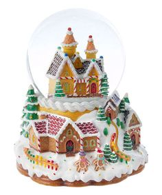 Look at this #zulilyfind! Gingerbread House Lighted Snow Globe #zulilyfinds