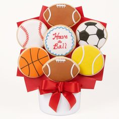 Have A Ball Cutout Cookie Bouquet - Sports - Shop By Occasion