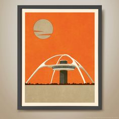 The Theme Building - LAX Airport - Los Angeles by HarperAndCharlie on Etsy