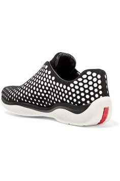 new concept db9bd 775a9 Prada - Perforated Suede And Neoprene Sneakers - SALE20 at Checkout for an  extra 20%
