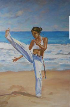 #Brasilien #Kampf #Tanz #Strand #Kunst Strand, Etsy Seller, Creative, Painting, Art, Capoeira, Painted Canvas, Brazil, Painting Art