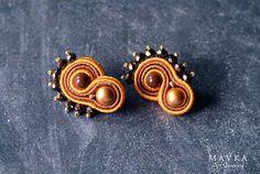 Brown & Orange Orecchini / Orecchini / Orecchini Soutache /