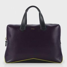 Paul Smith Men's Bags - Damson Leather Deluxe V-Base Business Folio