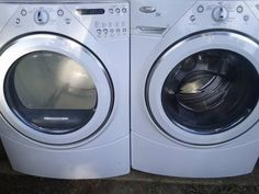 front load washer & dryer set whirlpool - $650 (memphis)