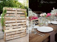 great wedding menu sign! from lili durkin photography!