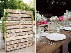 great wedding menu sign! from lili durkin photography!