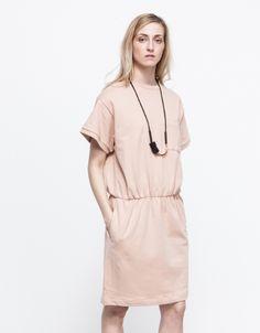 Short Sleeve Sweat Dress