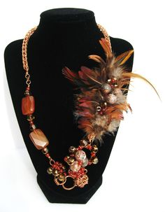 hand forged, viking chain, semi precious stone, feathers, weaving, asymmetrical, toggle, hand made, copper