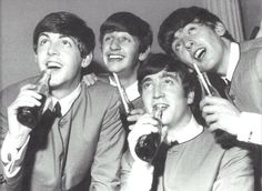 Things go better with... the Beatles even sat for a Coca-Cola 'shoot' in 1964.