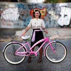 Pink punk cycle chick