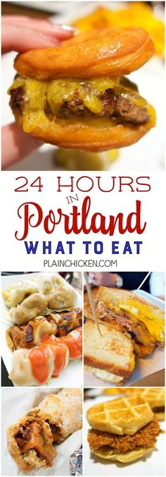 24 hours in Portland Oregon - what to eat!
