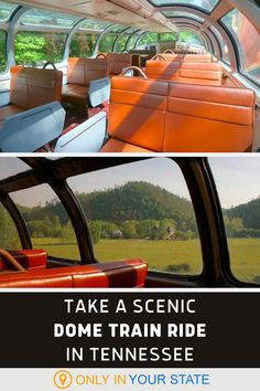Take a scenic train ride in a beautiful dome rail car in Tennessee. This unique day trip is perfect for a date or family fun and the panoramic views can't be beat. Places To Travel, Places To Go, Best Bucket List, Scenic Train Rides, Tennessee Vacation, Road Trip Usa, Summer Travel, Places Around The World, Travel Usa
