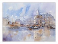 Weeping Tower Amsterdam | Edo Hannema Watercolor Art