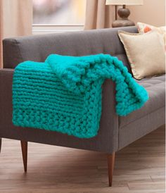 Cool Comforts Knit Throw | AllFreeKnitting.com