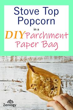 Keep your pan clean and learn to fold this parchment paper bag to pop your popcorn and serve your snack when it's done! It's so easy! Popcorn Kernels, Popcorn Bags, Pop Popcorn, Bread Bags, Parchment Paper, Pretty Good, Kitchenware, Snacks, Chocolate