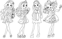 Free Printable Ever After High Coloring Pages: Getting Fairest Ever After High Coloring Page