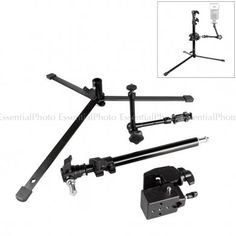 """PIXAPRO Magic Arm Kit (Super Convi Clamp, Floor Stand & Magic Arm) The PIXAPRO Magic Arm Kit is an essential piece of kit that can come in handy on many different occasions. This kit is comprised of, a 600 Floor Stand, an 11"""" Magic Arm, and a Super Convi Clamp. Each of these components can be combined in many configurations, and is perfect for mounting small cameras and flashes pretty much anywhere you can think of."""