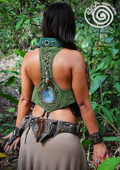 Leather Forest Vest Coat Gypsy Fairy Nomad Tribal